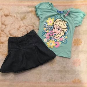 🦄Disney girls size 5T matching bundles set
